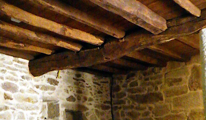 Maison-Campagne-Espagne-San-Amaro-Carballino-salle-poutres-apparentes