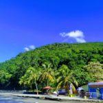 Restaurant le nouveau couché de soleil sur la plage de Malendure, Gwada