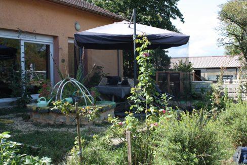 Jardin des chambres d'hôtes au bois de mon coeur Foameix-Ornel Verdun