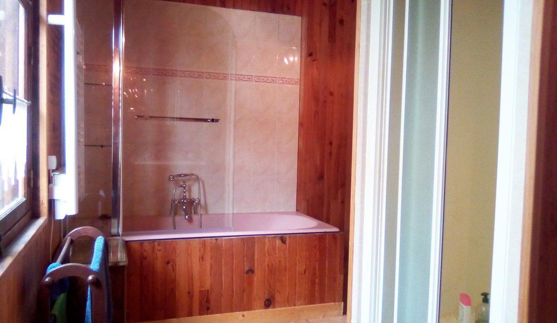 salle de bain du cottage A la lumière de Jane
